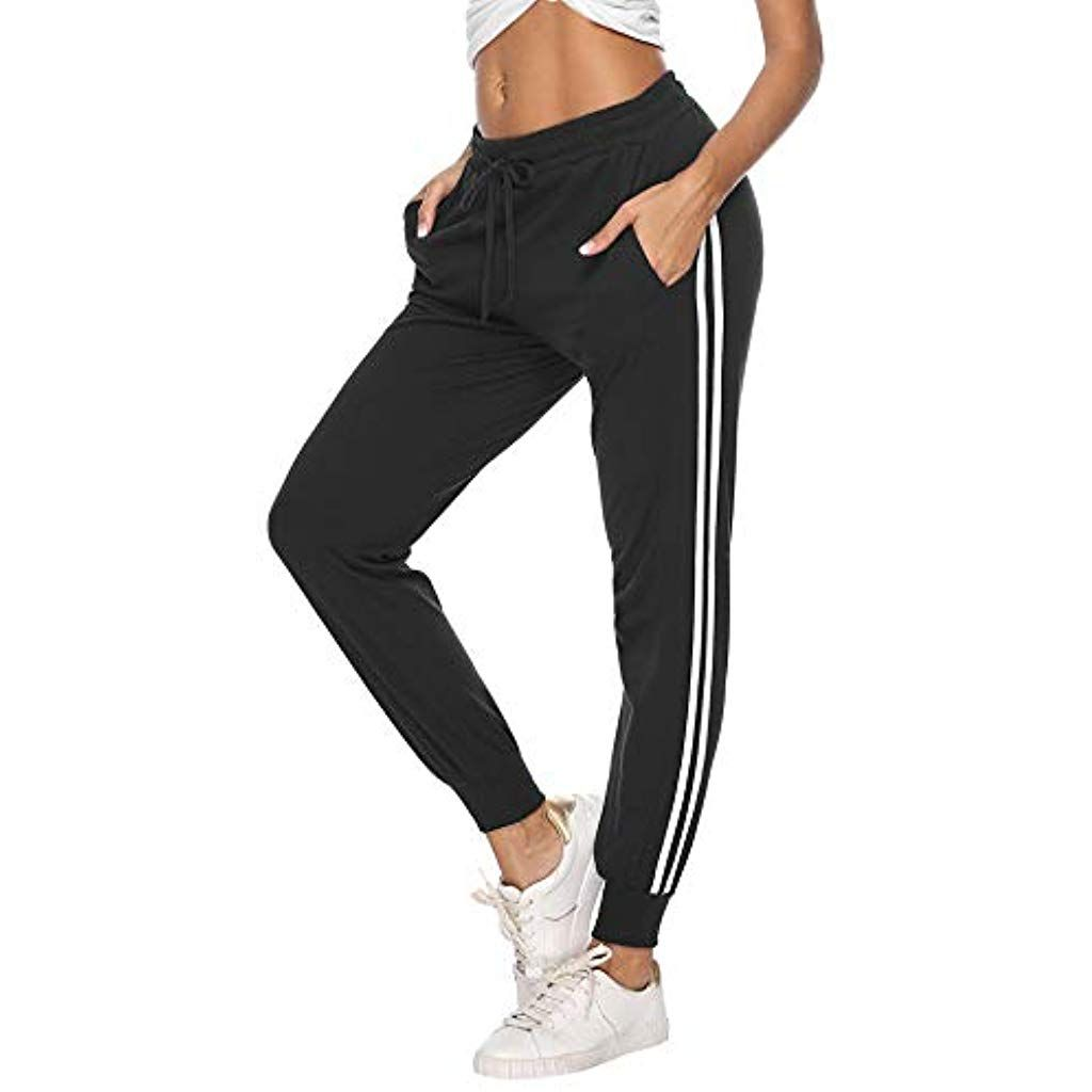 Damen Sport Jogginghose Fitness Sweat Trainingshose Sporthose Schlafanzug Hosen