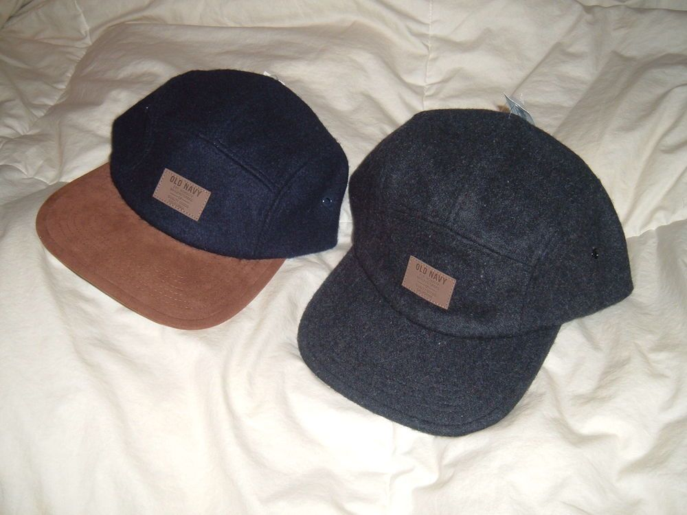 Old Navy Wool Felt 5 Panel Men s Cap One Size Colors Navy or Gray  OldNavy   BaseballCap 3448d98ffcd2