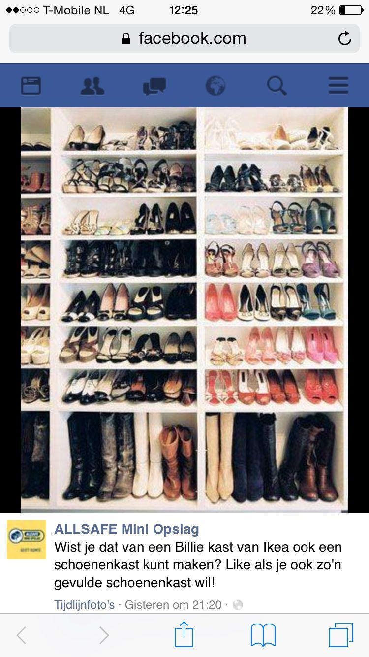 Billy boekenkast als schoenenkast | παπουτσοθηκες | Pinterest