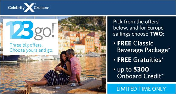 Celebrity Cruises 123go Sale Choose One Of The Following Offers
