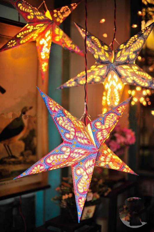 Boardpaper Star Paper Lantern With Light Bulbs For By Vivarosa 4 99