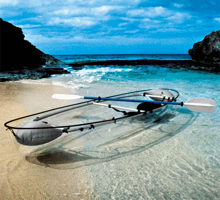 Views Of The Ocean transparent canoe offers incredible views of the ocean below