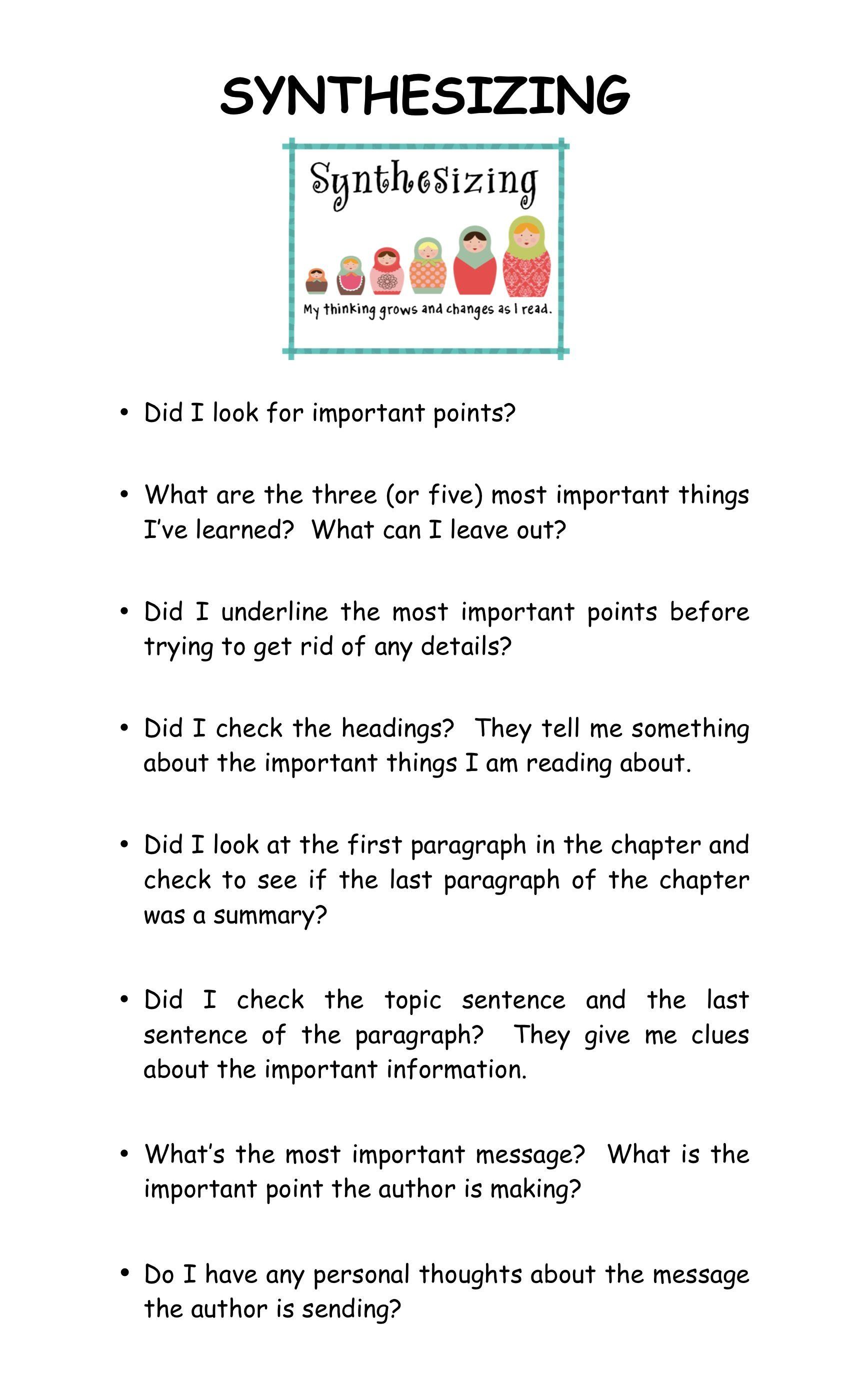 Reading Strategy Synthesizing