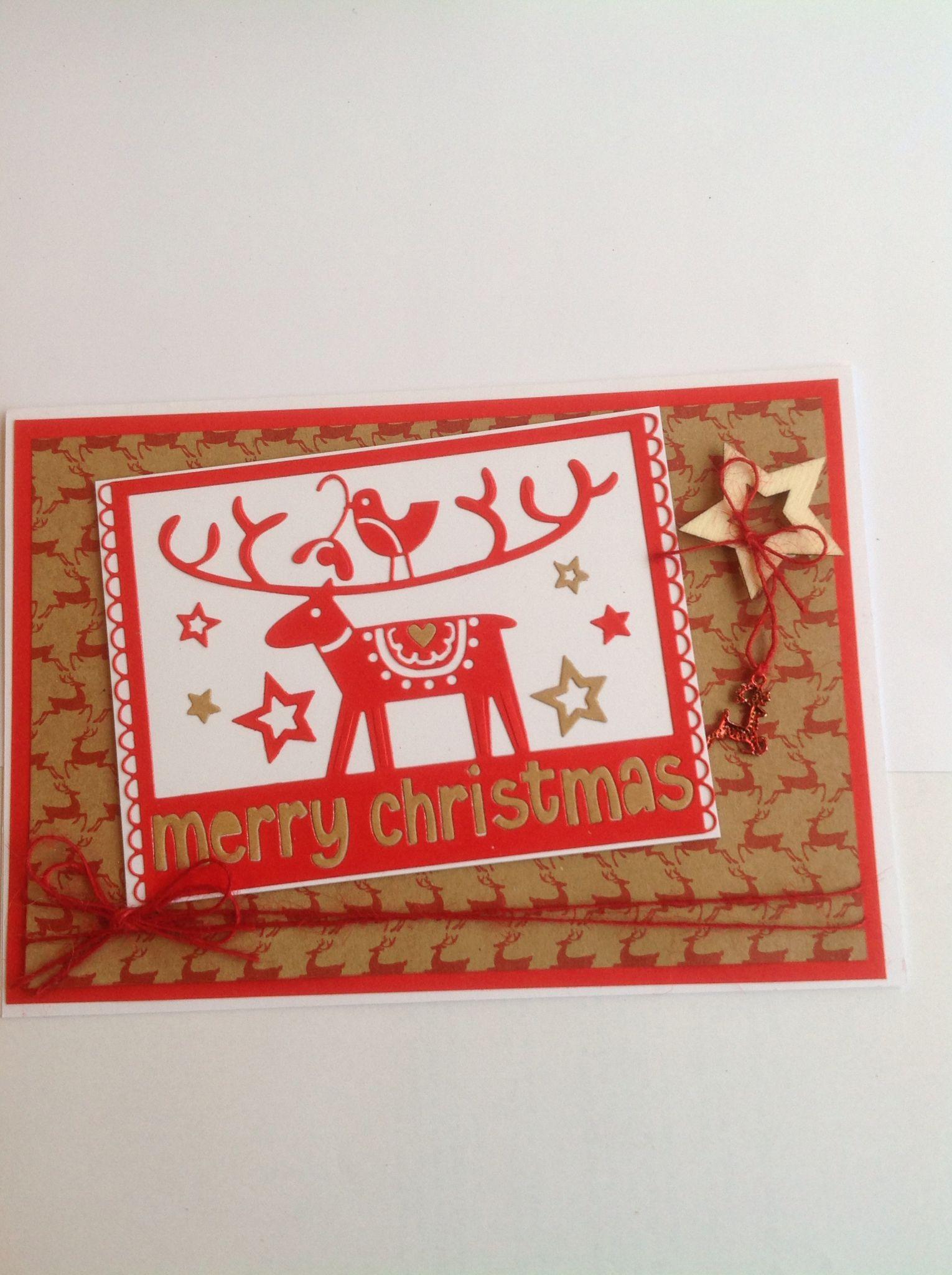 Sissix christmas card