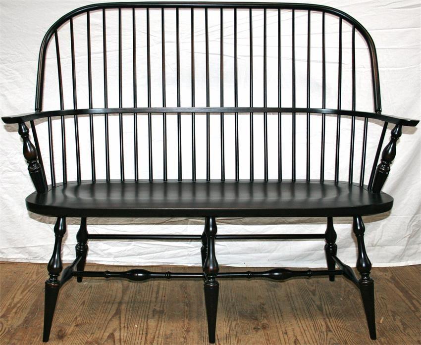 Amish Philadelphia Windsor Arm Bench Living Room Remodel