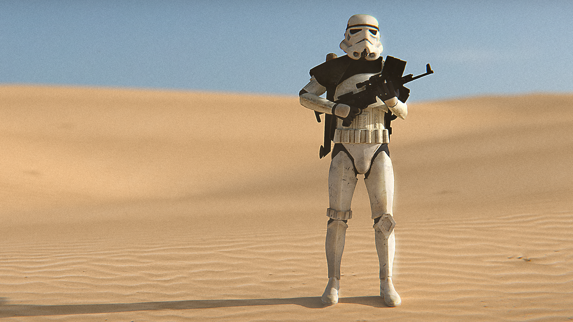 [OC 1920x1080] Stormtrooper wallpaper made in Blender and