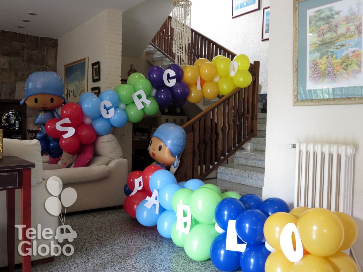 Decoraci n con globos con tem tica pocoy decoraciones for Ver decoraciones