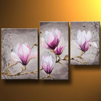 Delicate Magnolia Flower Modern Canvas Art Wall Decor Floral Oil Painting Wall Art 65 99 Buy Hand P Floral Oil Paintings Modern Canvas Art Flower Painting