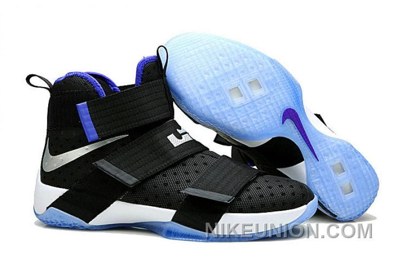 Buy Nike LeBron Zoom Soldier 10 Black Metallic Silver Blue For Sale from  Reliable Nike LeBron Zoom Soldier 10 Black Metallic Silver Blue For Sale  suppliers.