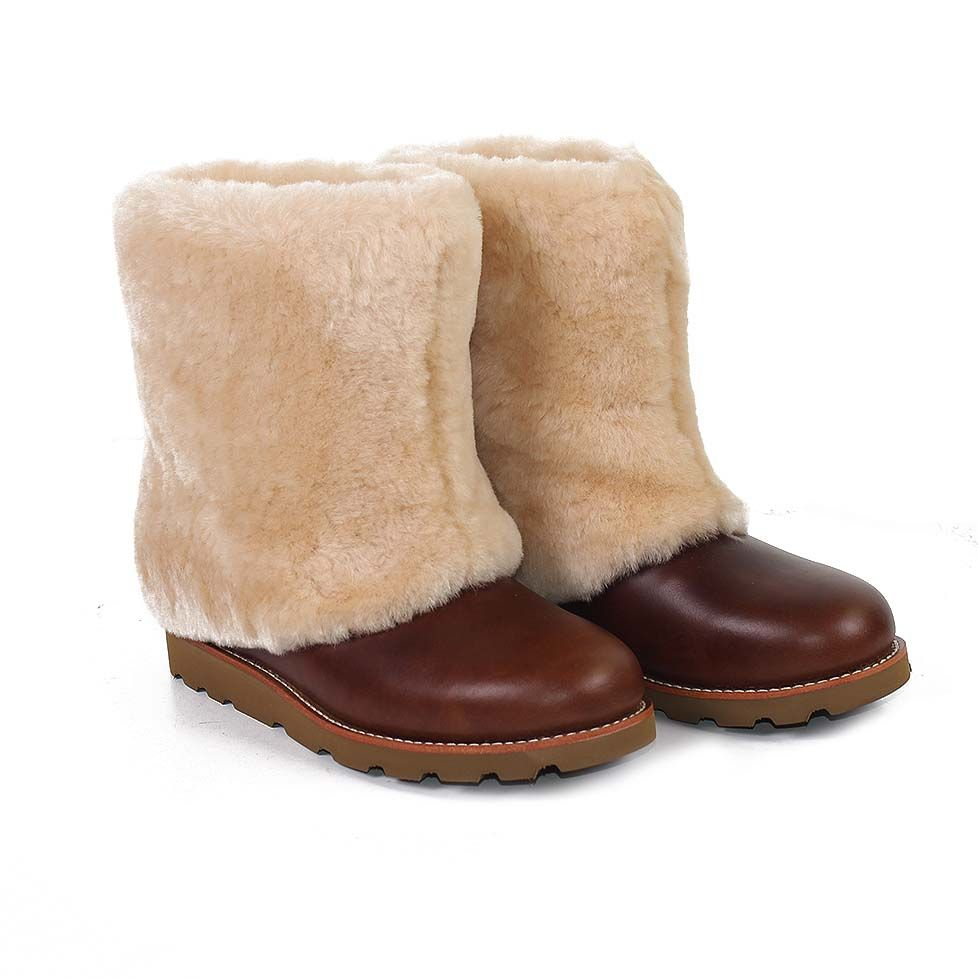 6fca3a196ab reduced ugg australia maylin leather sheepskin boots chestnut. put these on  my christmas list 2bd5e