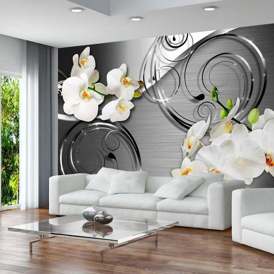 papier peint 3d cr ant un effet abstrait et trompe l il. Black Bedroom Furniture Sets. Home Design Ideas