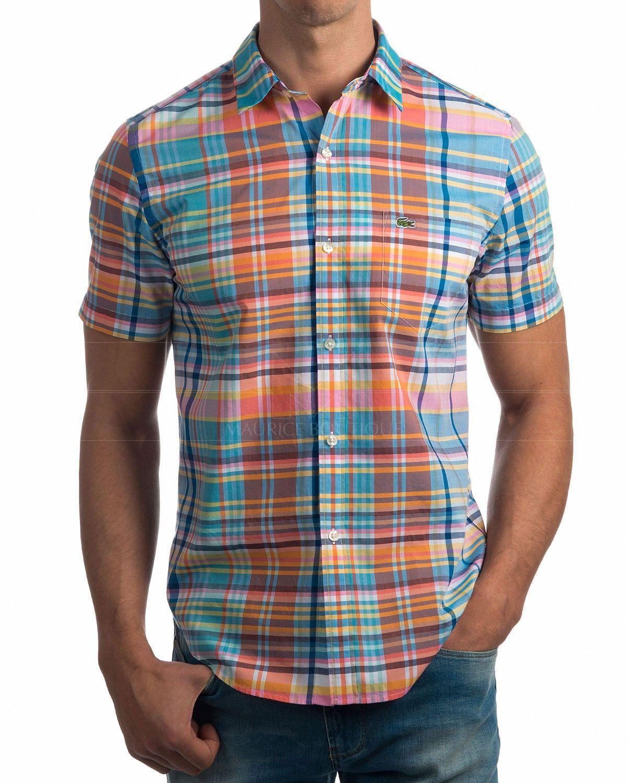 5024c61792 Camisa Lacoste Manga corta cuadros - Multicolor