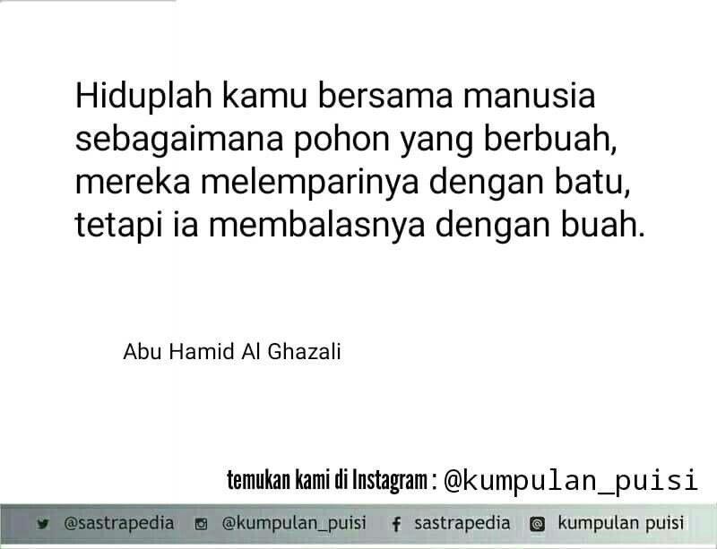 Puisi Pendek Kumpulan Puisi Abu Hamid Al Ghazali Puisi