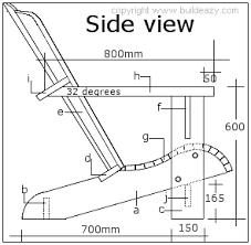 Resultado de imagen para plano de silla de madera sillas for Planos de sillones