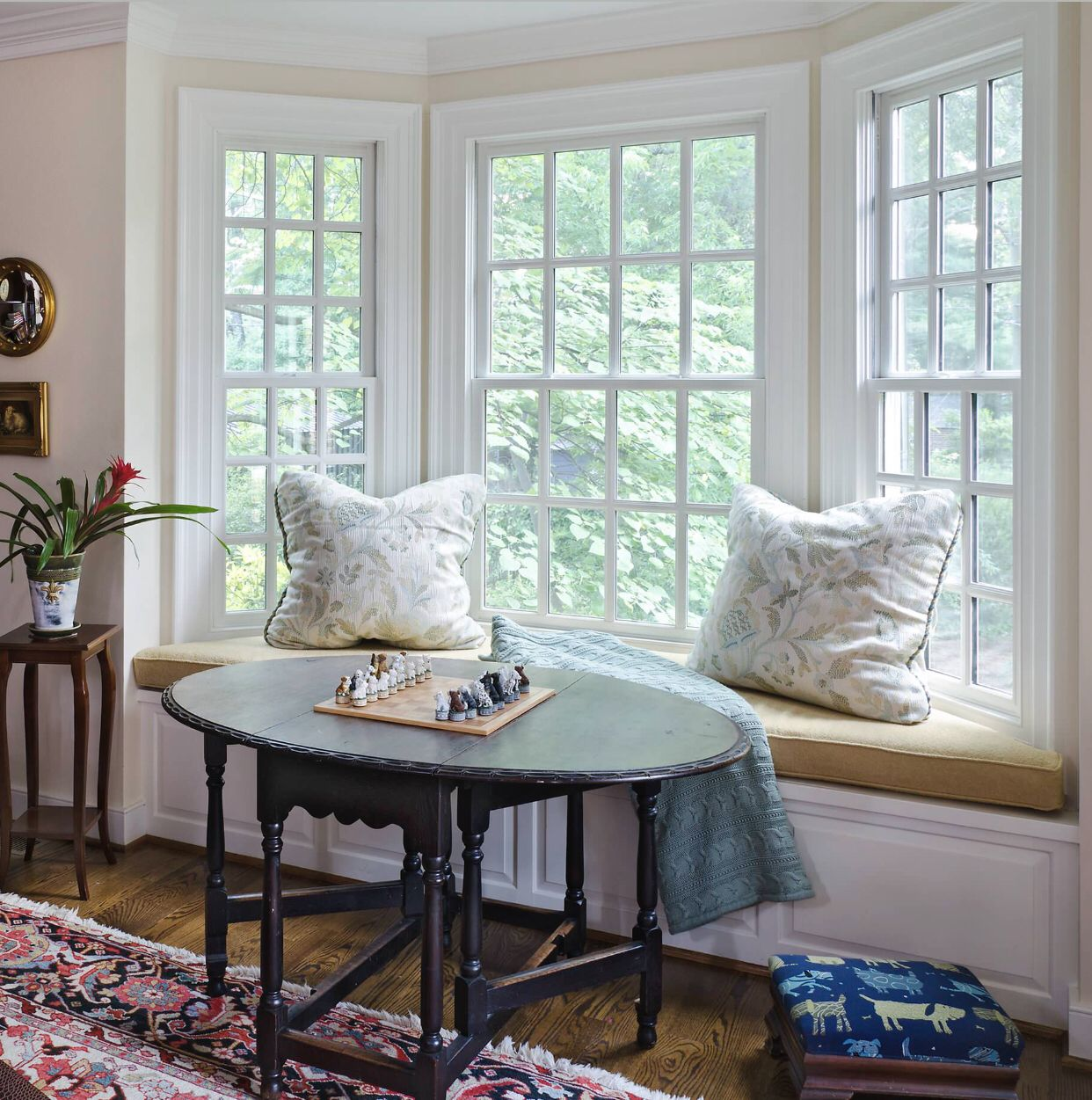 Bay windows are the perfect way to add natural light and