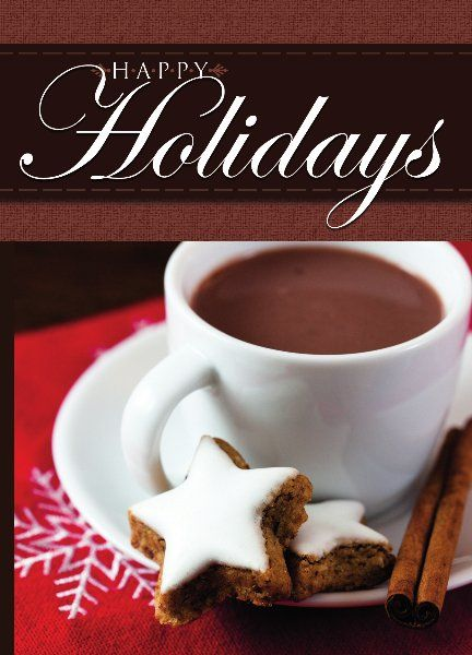 Customizable Cafe Happy Holidays Card  EasyToPersonalize
