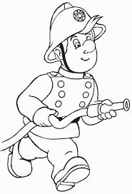 Znalezione obrazy dla zapytania strażak sam kolorowanka