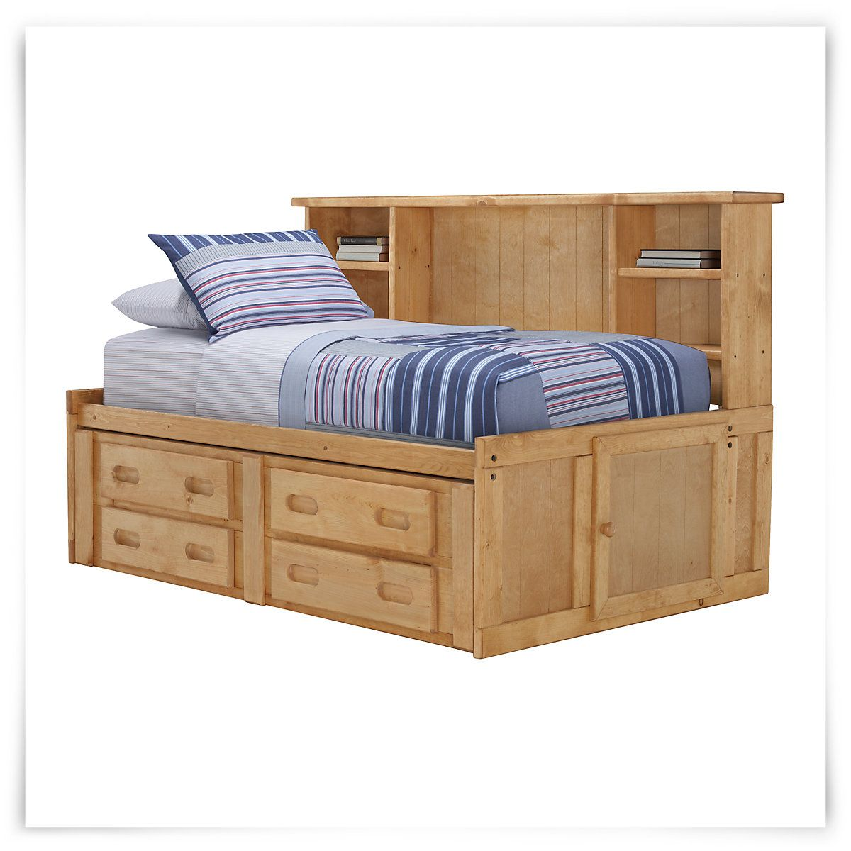 Cinnamon Mid Tone Wood Storage Bookcase Daybed Ideas For That Room