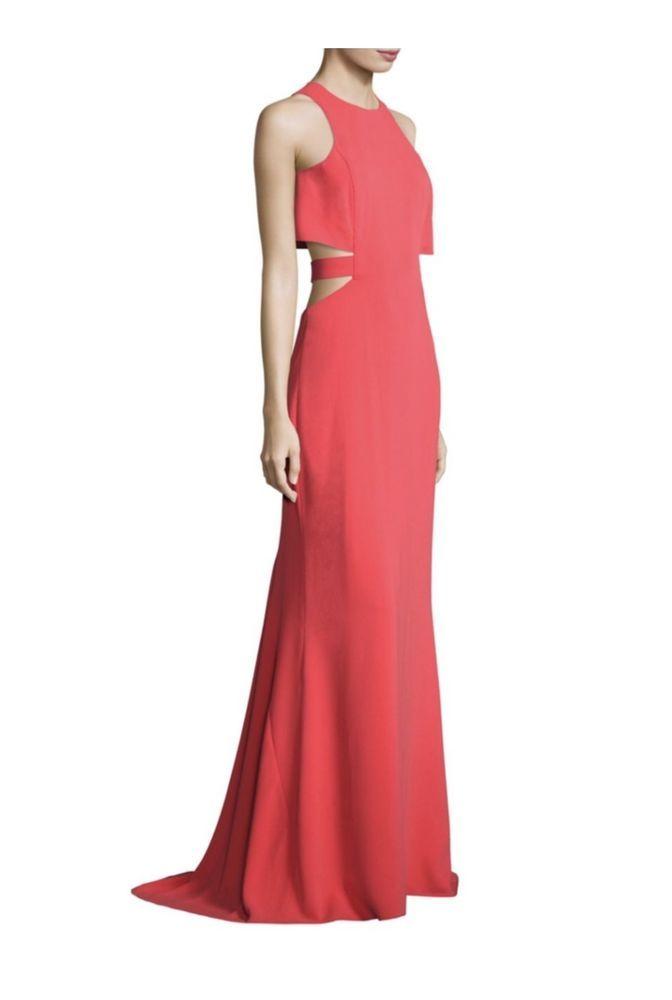 Halston Heritage Woman Cutout Crepe Maxi Dress Baby Pink Size 2 Halston Heritage GYrIBbr
