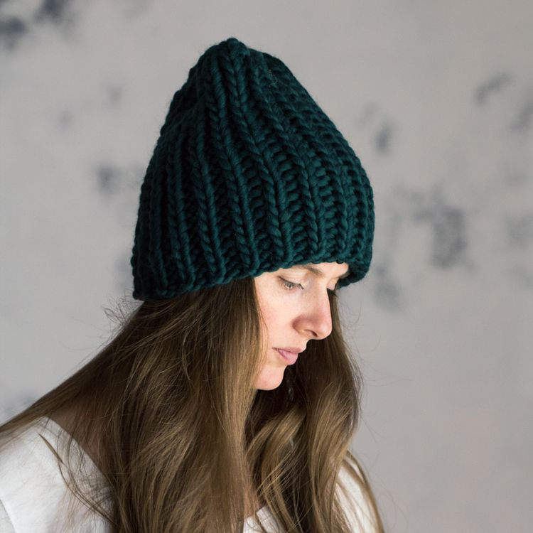 Just Breathe Womens Slouchy Hat Knitting Pattern Knitting