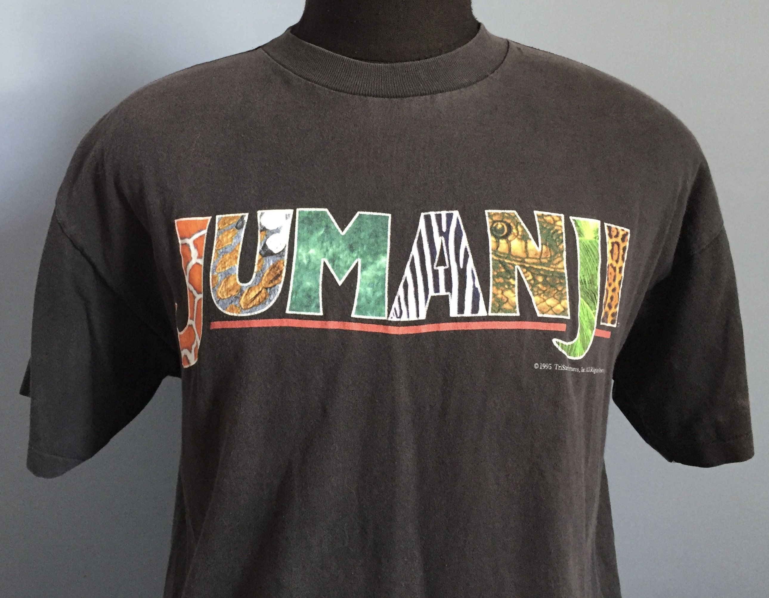 90s Vintage Jumanji 1995 movie Robin Williams promo T-Shirt