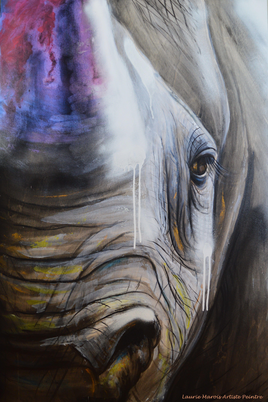 Force Tranquille 24x36 Acrylique Sur Bois Peintures Animalieres