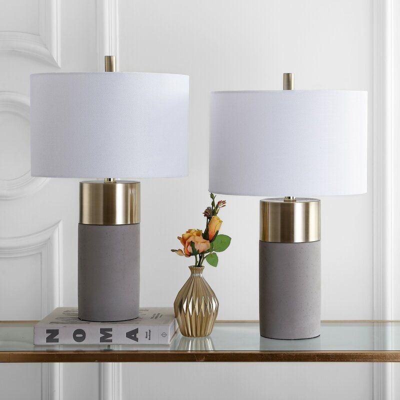 Mercury Row Fegan 22 Gray Gold Table Lamp Set Reviews Wayfair Glam Table Lamps Gold Table Lamp Contemporary Table Lamps