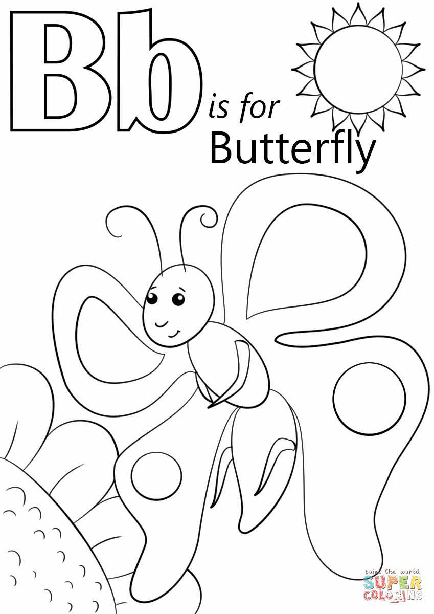 27 Letter B Coloring Pages In 2020 Letter B Coloring Pages Alphabet Coloring Pages Butterfly Coloring Page [ 1200 x 849 Pixel ]