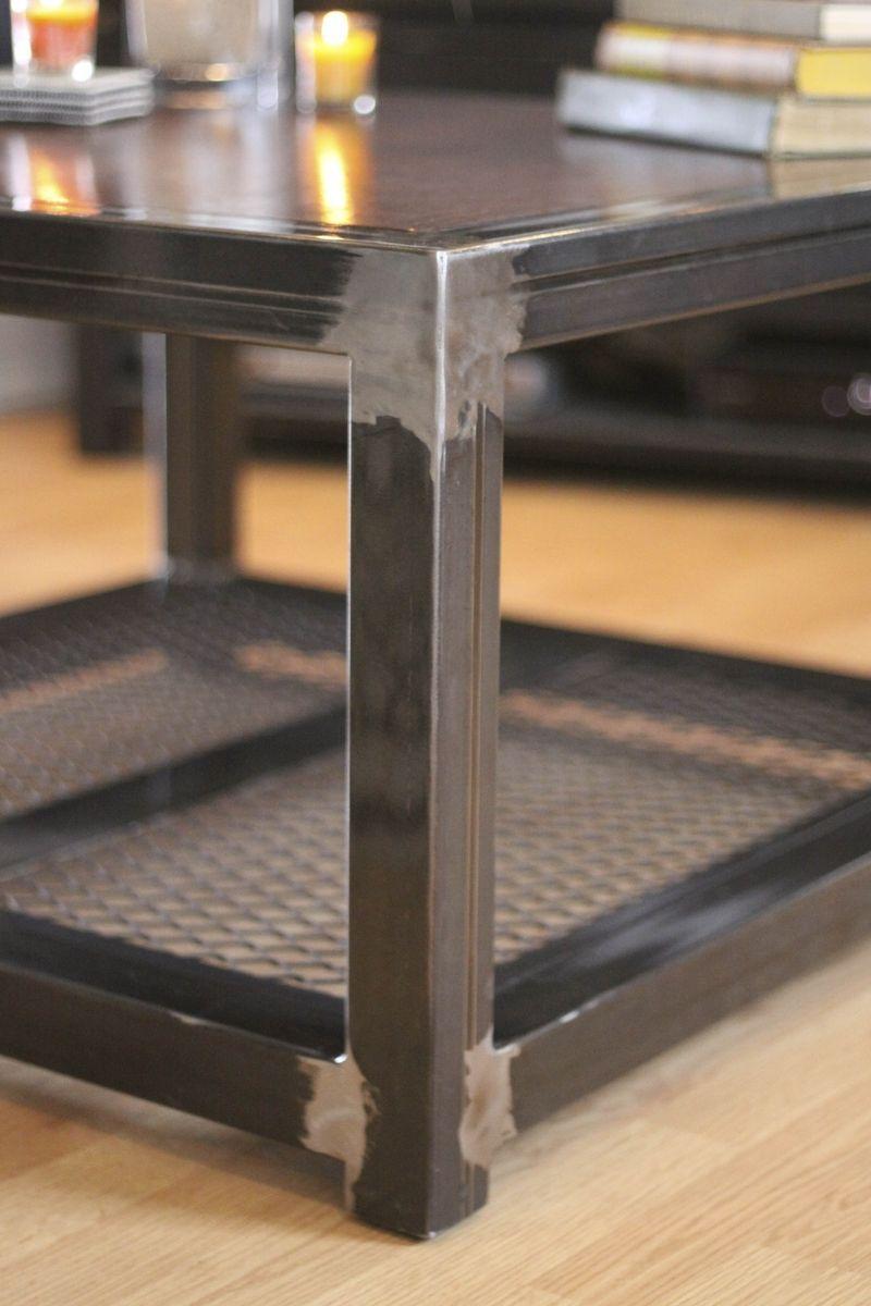 custom made steel and wood coffee table modern on stunning wooden metal coffee table id=89484