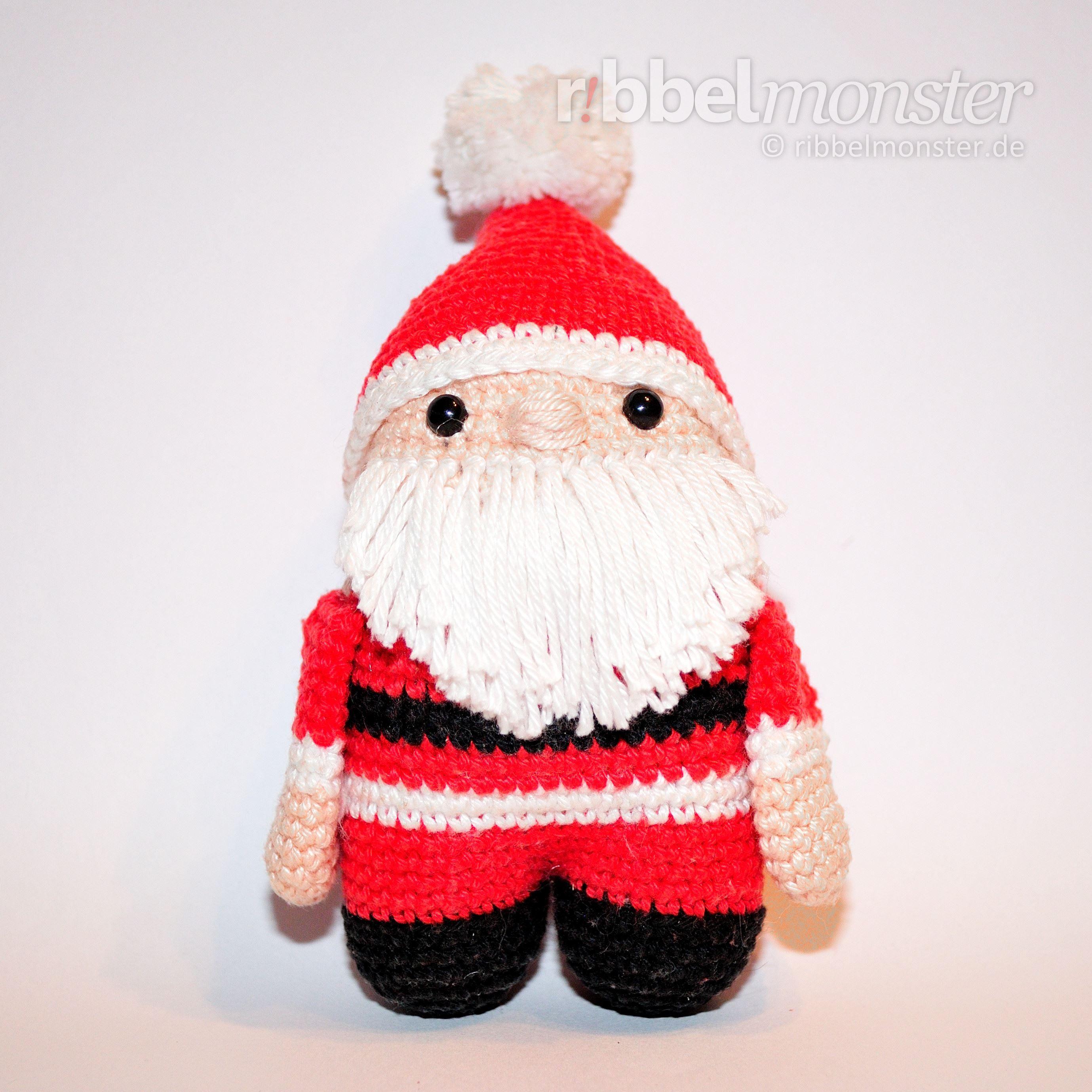 Amigurumi - Weihnachtsmann häkeln - Häkelanleitung - kostenlose ...