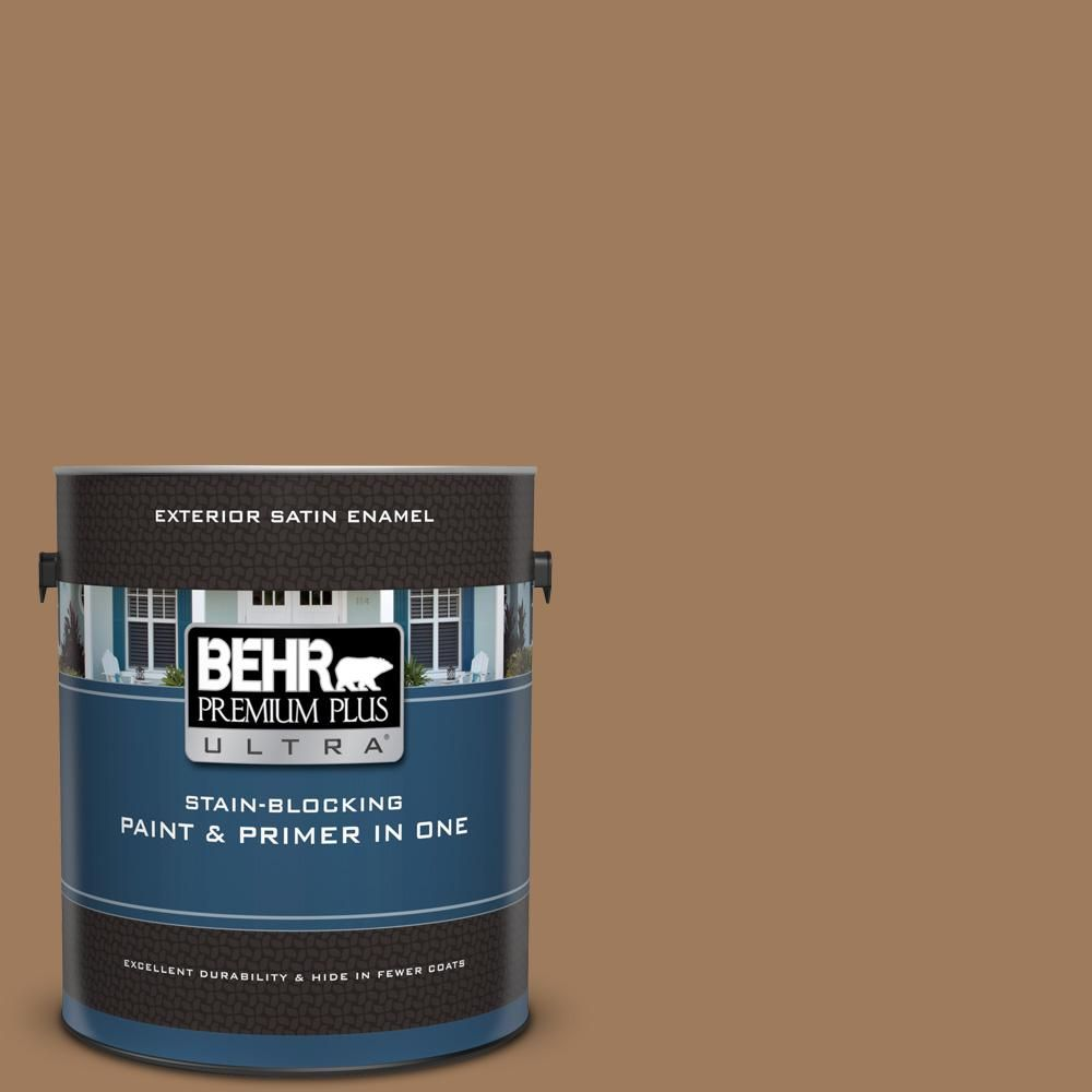 Behr Premium Plus Ultra 1 Gal Mq2 11 Outdoor Land Satin Enamel Exterior Paint And Primer In One Interior Paint Behr Exterior Paint