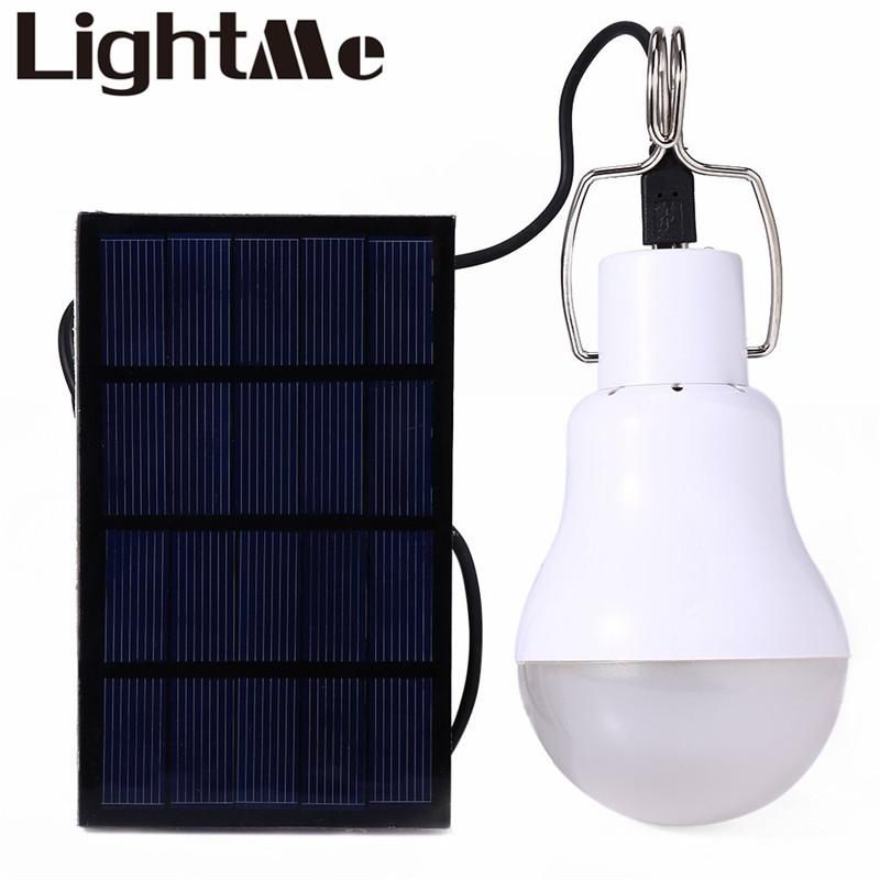 15W Led Bulb Light Charged Solar Energy Lamp Home Outdoor Lighting ...
