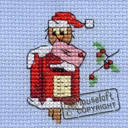 includes card Christmas Eve Owl Mouseloft Cross Stitch Christmas Card Kit