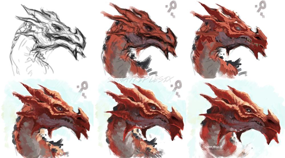 Odahviing2 By Otoimai On Deviantart Skyrim Art Art Fantasy Drawings