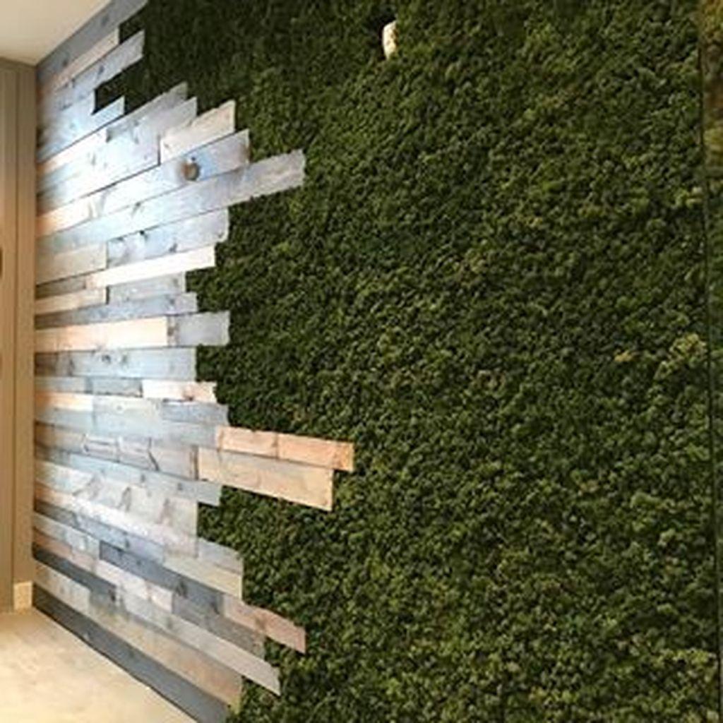 30 Perfect Green Grass Design Ideas For Front Yard Garden In 2020 Green Wall Design Cafe Interior Design Moss Wall Art