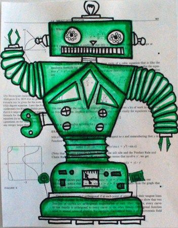 Robot Drawings (would be good to combine with a shapes
