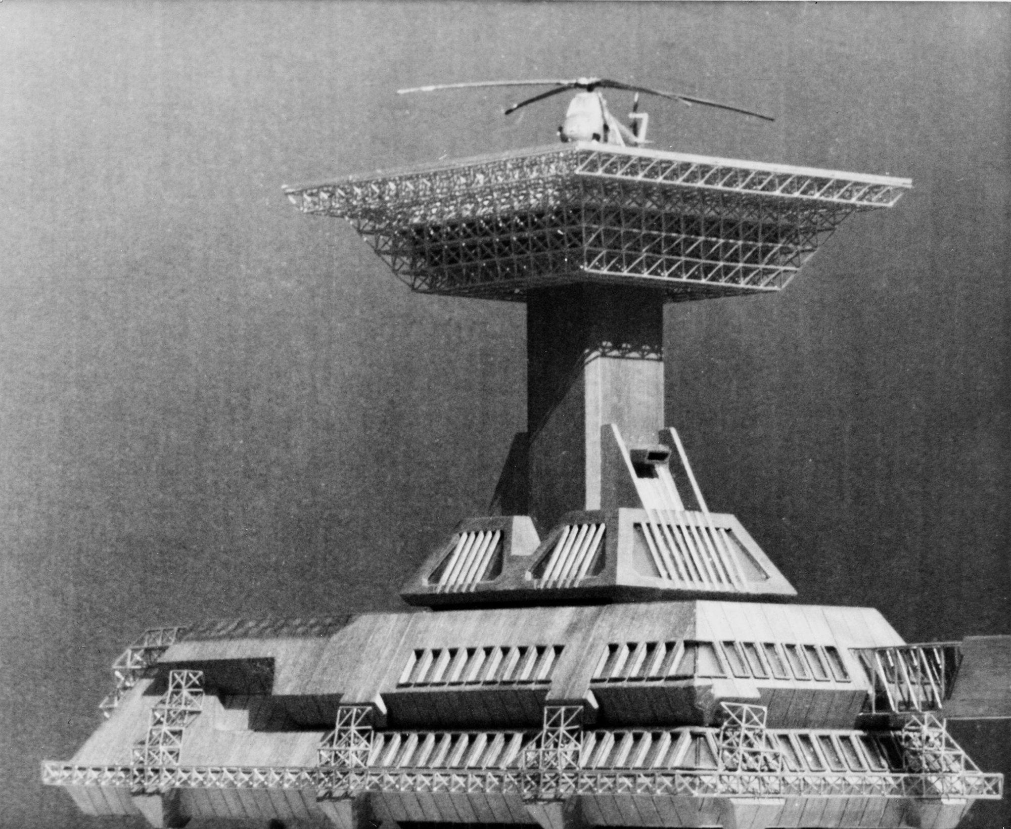 Ad Classics Police Center Operative Headquarters Spasoje Krunic Futuristic Architecture Architecture Architecture Design