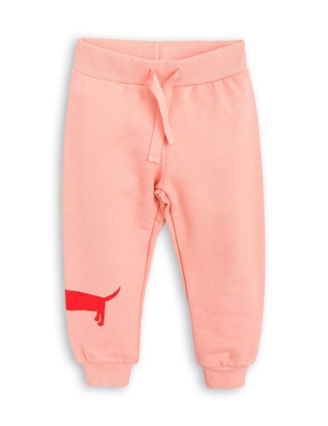 Mini Rodini Dog Sweatpants Pink - Little Bloom