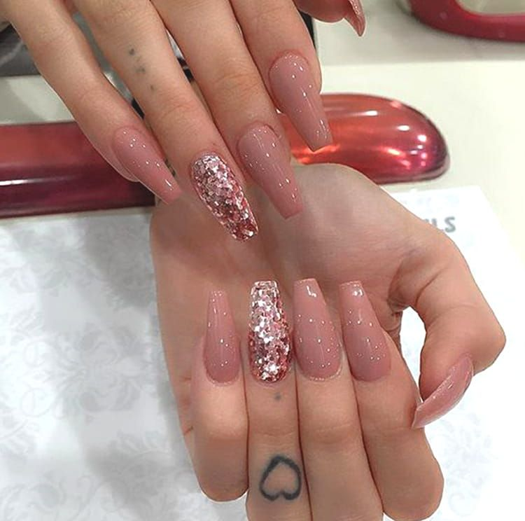 10 Elegant Rose Gold Nail Designs That You Should Try Cute Nails Coffin Nails Long Gorgeous Nails