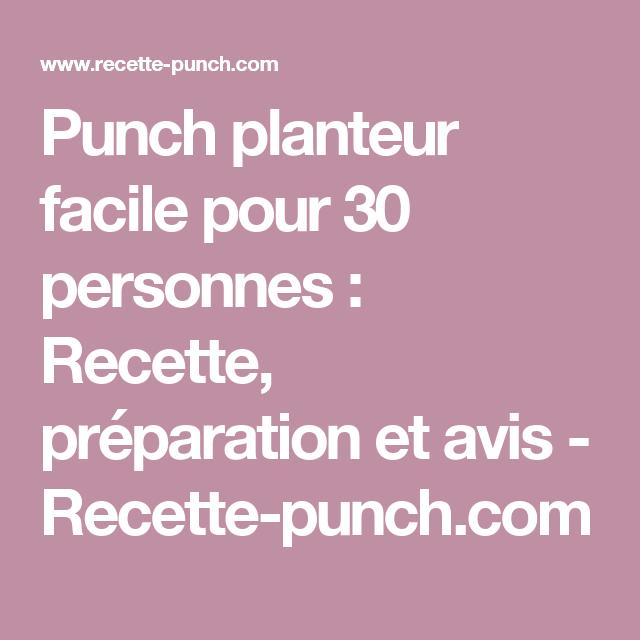 Recette Punch 30 Personnes