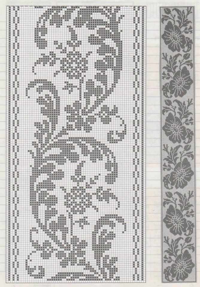 Filet crochet wine leaf yiii3w | Tel kırma | Pinterest | Punto de ...