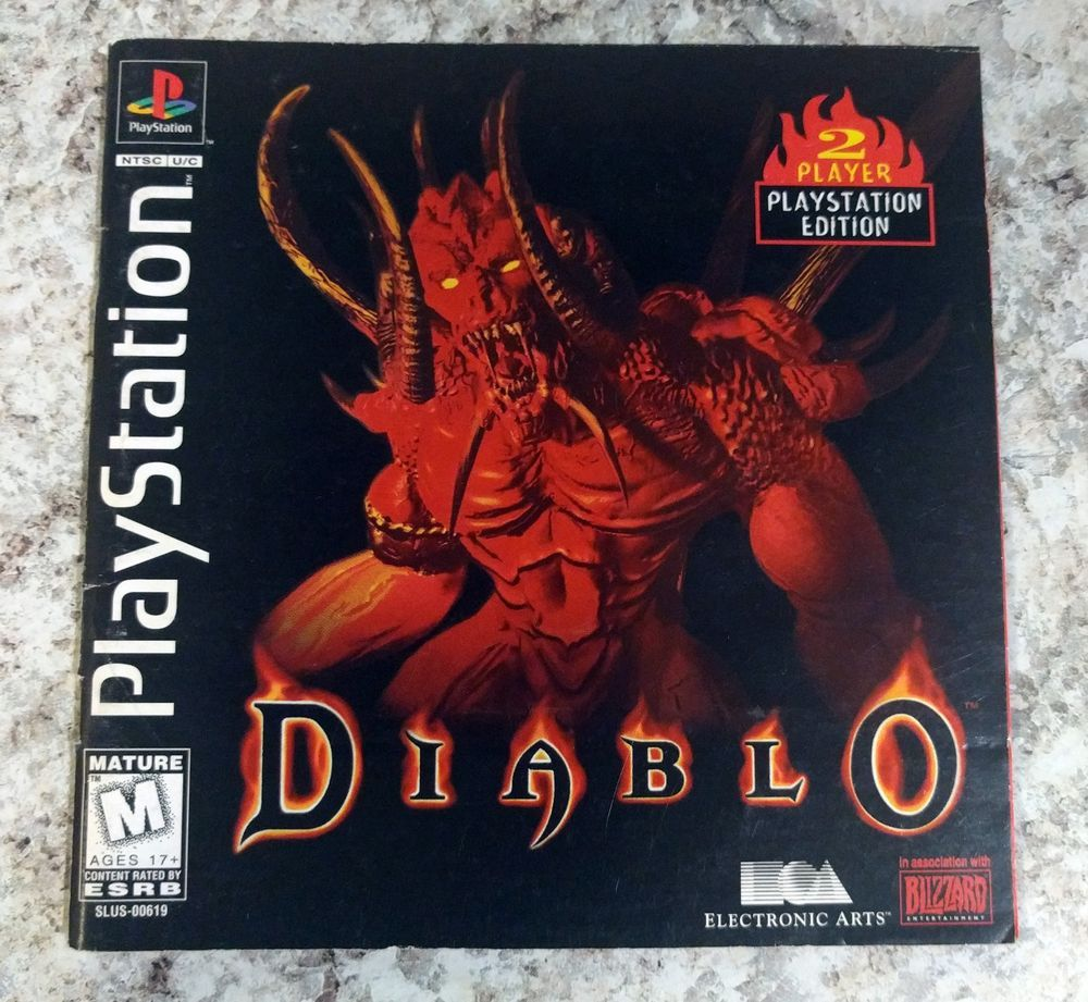Diablo Manual Only Sony Playstation 1 1998 Ps4 Gaming