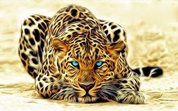 Awesome leopard  Creative art