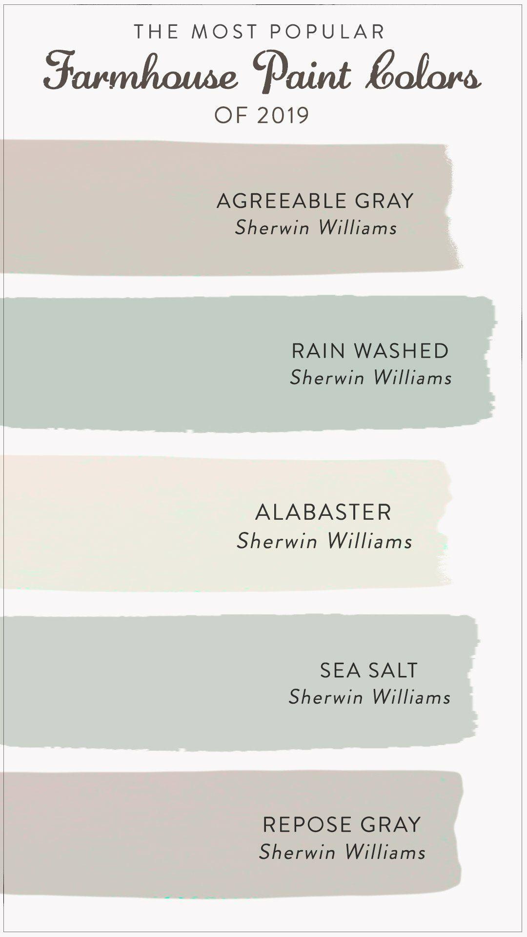 The Most Popular Farmhouse Paint Colors Of 2021 Paint Colors For Home Farmhouse Paint Colors Farmhouse Paint