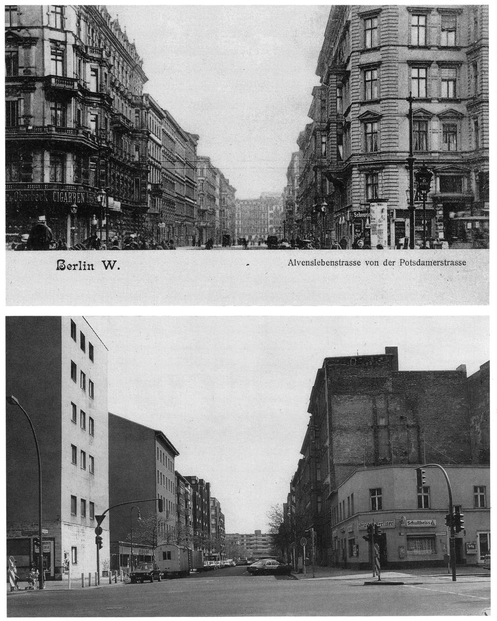 COMPARISON OF ALVENSLEBENSTRASSE (BERLIN) BEFORE THE WAR AND AFTER ...