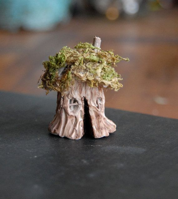 tiny fairy house gnome home clay and moss by gingerlittle on etsy - Gnome House S Design