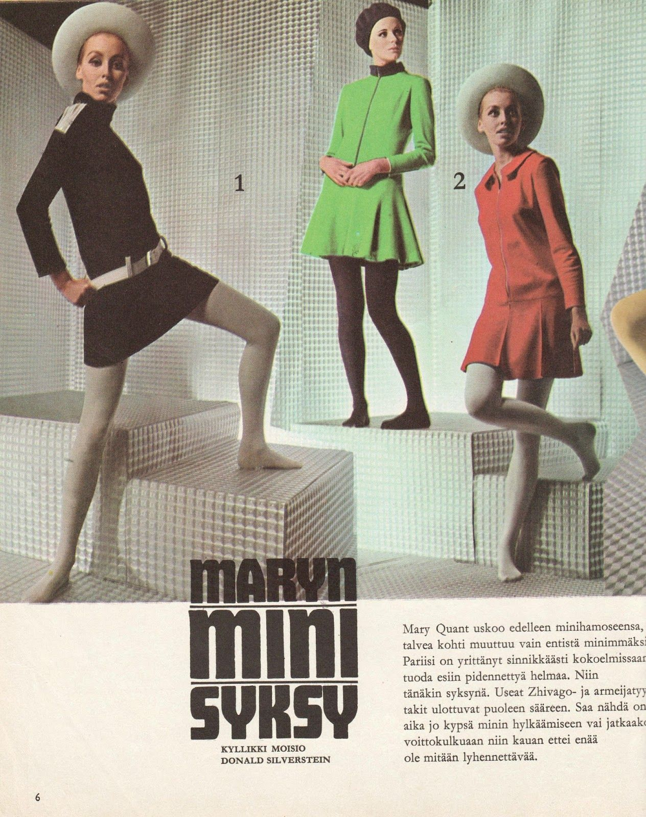 Mary Quant-muotia, Me Naiset 1967