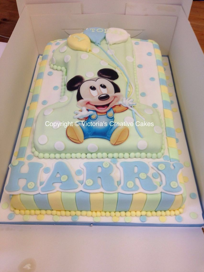 Baby Mickey Mouse First Birthday Cake Baby Mickey Cake Baby Mickey Mouse Cake Baby Mickey Mouse