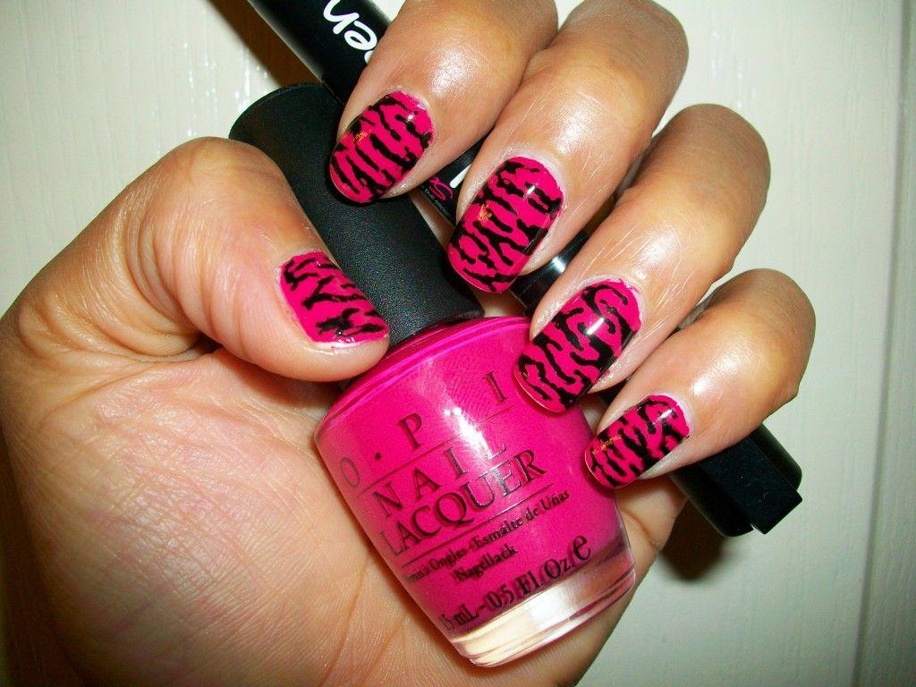 Pink Zebra nail art designs   Nails   Pinterest