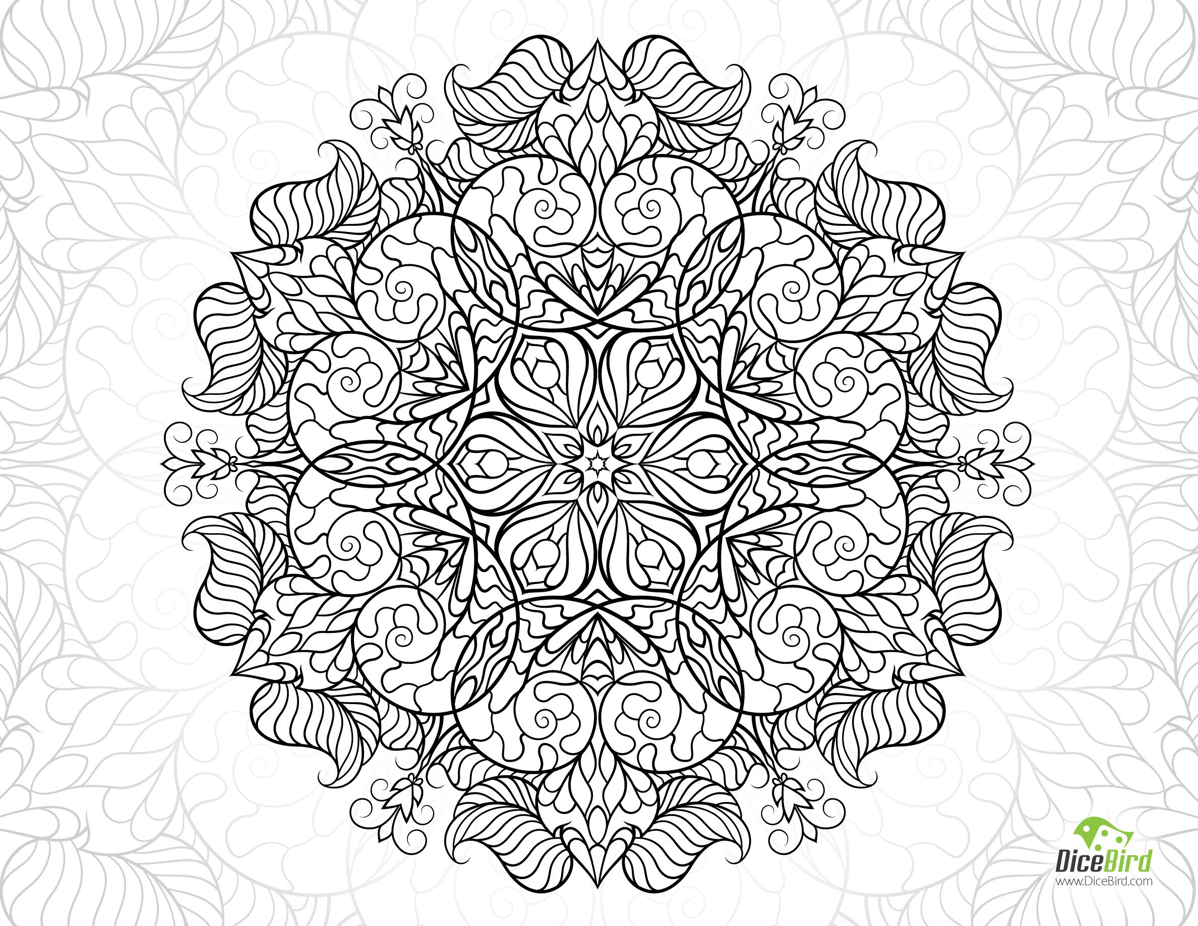 snail mandala flower free hard coloring pages snails